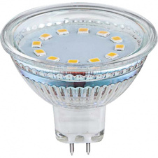 LED žárovka, chrom, Ø50, V:48, MR16 GU5,3 2W 12V, 200lm, 3000K.